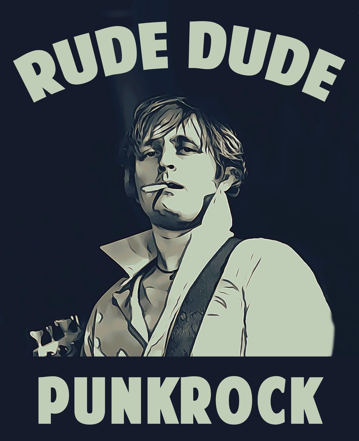 Rude Dude Shirt Layout